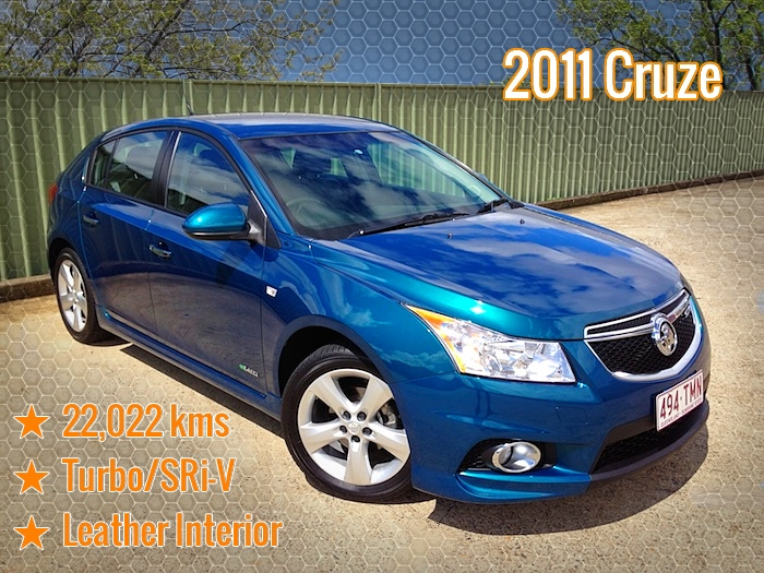 2011 Holden Cruze Sri V Jhii Hatch Turbo Auto Green